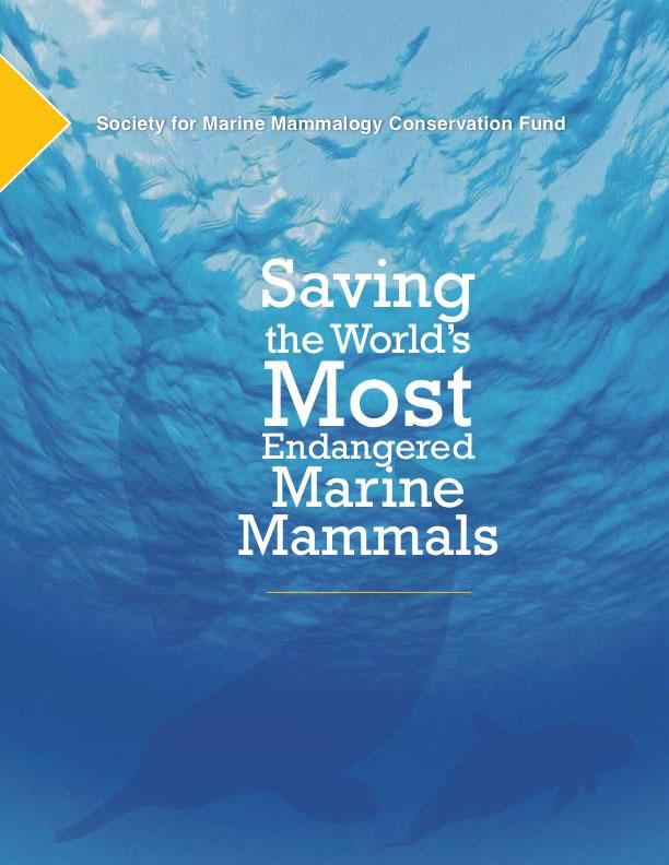 Saving the World's Most Endangered Marine Mammals Brochure